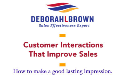 Customer Interactions That Improve Sales