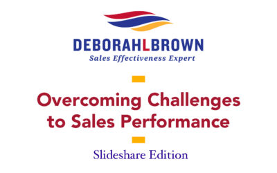 Overcoming Challenges To Sales Performance