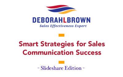 Smart Strategies For Sales Communication Success