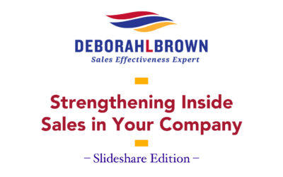 Strengthening Inside Sales In Your Company